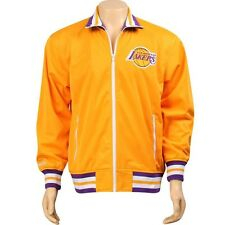 Mitchell And Ness Los Angeles Lakers NBA Preseason Warm Up Track Jacket (yellow)