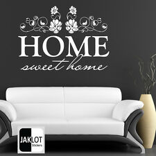 HOME SWEET HOME - Vinyl Wall Art Sticker Quote, DIY Transfer, Decal