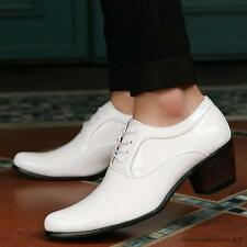 Vintage mens patent lether cuban heel wedding oxford dress casual shoes new
