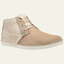Timberland Men's Bailard Mixed-Media Beige Suede Chukka Shoes Style A13DF
