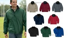 Harriton Fleece-Lined Nylon Full Zip Jacket M740  XS-4XL Wind/Water-resistant