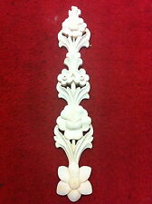1 x Tall flower design wooden moulding