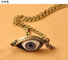 Blue Eyes Eyeball Pendant Necklace Chain Fashion New Jewelry Alloy Free Shipping