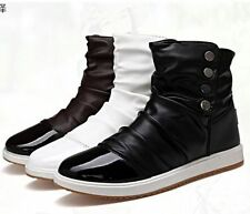 Korean Style Men's Lace Up Flat High-top Casual Shoes Ankle Boots Winter AU Size