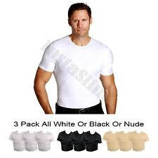 Official InstaSlim 3-Pack Men's Crew Neck Compression Shirt - Big & Tall