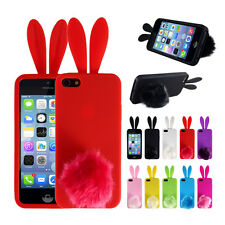 TPU Back Soft Cute Rabbit Protector Phone Cover Case Skin For iPhone 5/5S