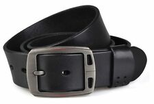 Genuine cow leather Mens work Dress Casual Belt Waist Strap brown Black 3.8cm