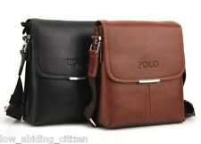 Polo Shoulder Crossbody Bag Men Leather Fashion Briefcase Messenger Bags Men's