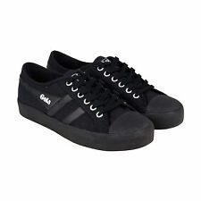 Gola Coaster Mens Black Textile Lace Up Sneakers Shoes