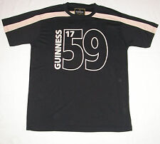 Guinness Guiness Black & Cream Performance Tee Shirt Jersey Rugby G5012