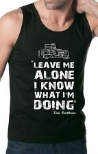 "KIMI RAIKKONEN ,,LEAVE ME ALONE I KNOW WHAT I'M DOING"" F1 BLACK TANK TOP VEST"