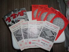 Middlesbrough Home Programmes. 1968 to 1970.