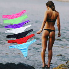 Sexy Lady Brazilian Bikini Bottom V Thong Swimwear Beachwear Bathing S-XL FO