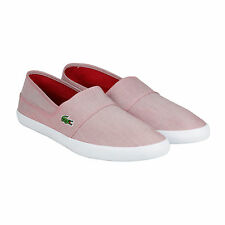 Lacoste Marice SPM Mens Red Textile Slip On Shoes