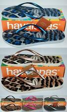 HAVAIANAS Genuine BNWT Ladies Slim THONGS FLIP FLOPS Animals 5 colours Logo Surf