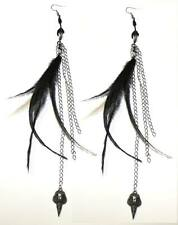 Too Fast Claw Feather Earrings Goth Victorian Steampunk Moto Glam Emo Pinup Punk