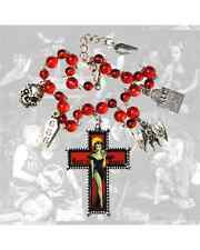Kreepsville Rest Peace Crucifix Charm Bracelet Gothic Punk Rockabilly Tattoo Emo