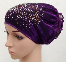 Glitter Cancer Bonnet Turban Chemo Treatment Hijab Hat Cap Inner Scarf Beanie
