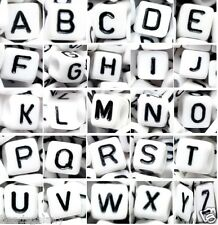 100 pcs alphabet letter beads, cube, up to buyer selection, letters, color, size