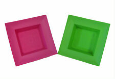 ** (3 pk) OASIS Square Plastic Containers in App.Green or Pink