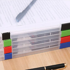 A4 Transparent Storage Box Clear Plastic Document Paper Filling Case File