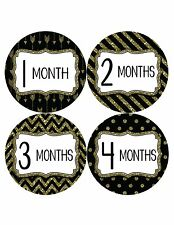 Months In Motion Baby Girl Monthly Stickers Milestone Month Sticker Glitter 801