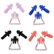 Sports Silicone Waterproof Safety Swimming Ear Plugs And Nose Clip Set with Case