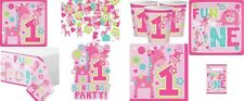 Wild at One Girl's 1st Birthday - party,tableware choose your design