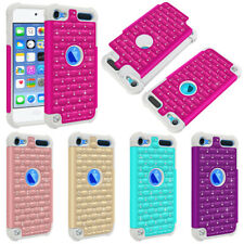 For Apple iPod Touch 5 5th/ 6 6th Gen Dazzling Bling Hybrid Soft Hard Case Cover
