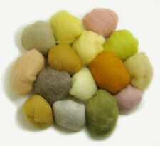 Felting Wool Beige 14 Colors Carded Craft  Hand Spin Wet Needle Felt Spinning