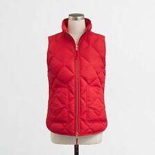 NWT J.Crew Factory Excursion Quilted Novelty Puffer Vest Dark Poppy L XL