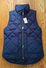 NWT J.Crew Factory Excursion Quilted Novelty Puffer Vest Navy Blue  XL