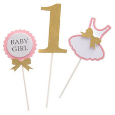Novelty BABY BOY or BABY GIRL Clothes Dress Cake Topper 1st Birthday Cake Décor