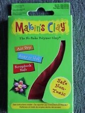 Makin's Clay No Bake Polymer Craft Non-Toxic Air Dry 60g or 120g Selected Colors