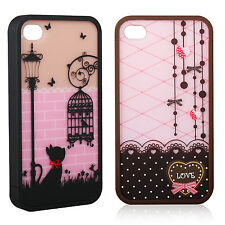 2016 New Cute Lovely Hard Cover Skin Case For iPhone 4 4S Screen Protector Gift
