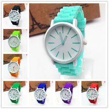 Fashion Silicone Quartz Women Ladies Girl Jelly Gel Wrist Geneva Sport Watch