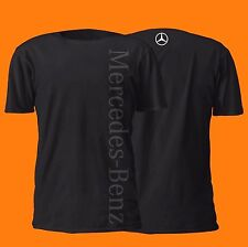MERCEDES BENZ VERTICAL SHIRT GERMAN 100% COTTON BLACK ON BLACK MERCEDES-BENZ