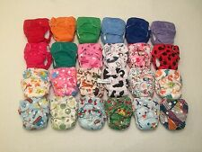 24 Happy Flute AIO Newborn Cloth Diaper with Double Gussets. Like THX/Lil Joey's