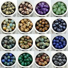 20pcs 10mm Natural Gemstone 2mm Big Hole Round Spacer Loose Beads