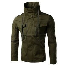 NEW Military Men's Stylish Slim Jackets Casual Stand Collar Outerwear Coat Tops