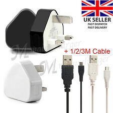 UK Mains Charger Adapter Micro USB Data Cable for Amazon Fire TV Stick, Kindle