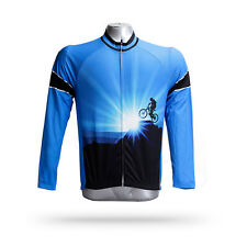 Conqueror Men's Winter Cycling Clothing Long Sleeve Fleece Thermal Bike Jersey