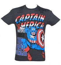 Men's Marvel Comics Captain America The First Avenger T-Shirt from Fabric Flavou