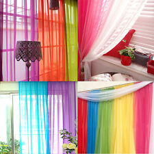 1x Home Decor Tulle Voile Window Drape Panel Sheer Scarf Valances Curtain