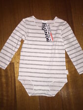 Baby Bonds wonderbodies long sleeve bodysuit BNWT RRP $16.95 Size 0000 - 2