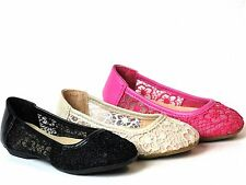 Baby Toddler Girls Lace Crochet Slip On Shoes Ballet Flats Mary Jane Dress Shoes