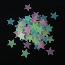 100Pcs Wall Stickers Decor Glow In The Dark Star Decal Baby Kids Room 4 Color LJ