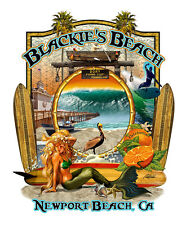 Blackie's  - Newport Beach T Shirt, Designed exclusively for us by Rick Rietveld