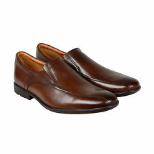Clarks Gosworth Step Mens Brown Leather Casual Dress Slip On Loafers Shoes