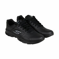 Skechers Go Fit TR Amuse Womens Black Leather Sneakers Shoes